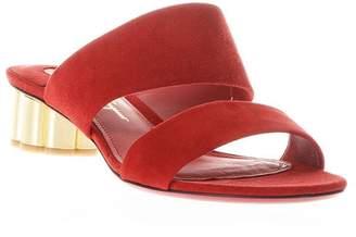 Salvatore Ferragamo Belluno Flower Heel Sandals