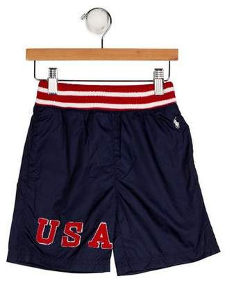 Polo Ralph Lauren Boys' Appliqué Swim Trunks