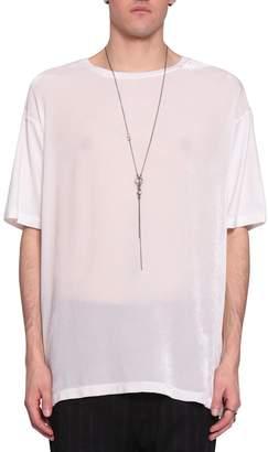 Ann Demeulemeester Velvet And Viscose T-shirt