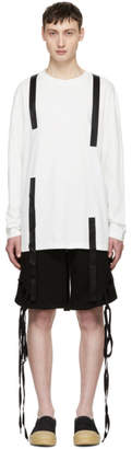 D.gnak By Kang.d SSENSE Exclusive White Three Straps T-Shirt