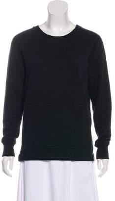 John Elliott Crew Neck Quilted Yoke Sweatshirt