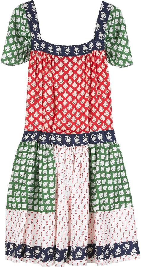 Anna Sui Patchwork habotai dress