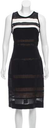 J. Mendel Lace-Accented Silk Dress