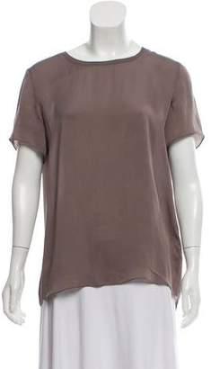 Theyskens' Theory Silk Short Sleeve Top