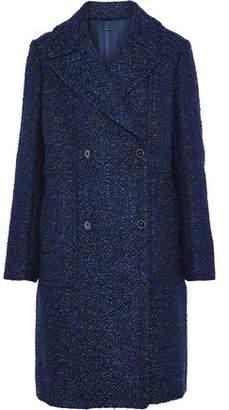 Elie Tahari Double-Breasted Bouclé-Tweed Coat