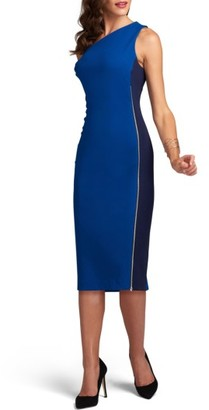 Women's Eci One-Shoulder Tonal Sheath Dress $88 thestylecure.com