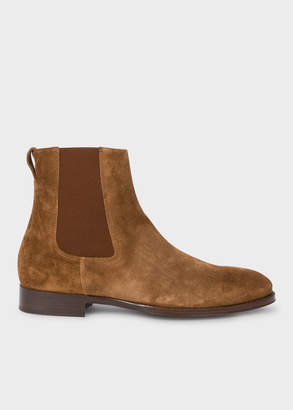 Paul Smith Men's Brown Suede 'Joyce' Chelsea Boots