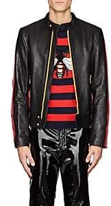 Gucci Men's Leather Moto Jacket - Black