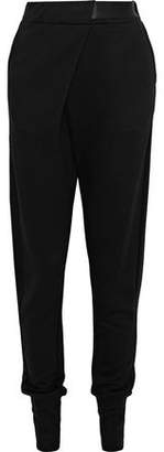 Ann Demeulemeester Satin-Trimmed Terry Tapered Pants