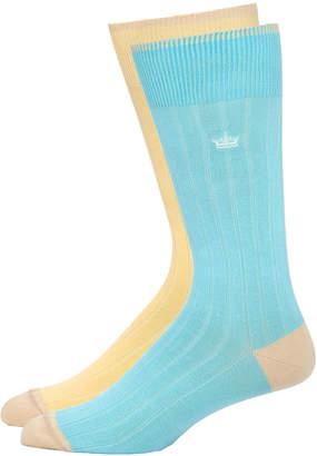 Peter Millar Ribbed Dress Socks, Two Pack