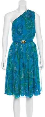 Christian Dior Paisley Print Silk Dress
