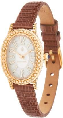 Judith Ripka 14K Gold & Lizard Strap Watch