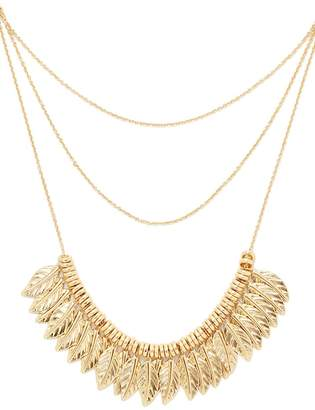 Forever 21 Layered Leaf Necklace