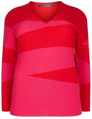 Marina Rinaldi Cashmere Zig Zag Sweater