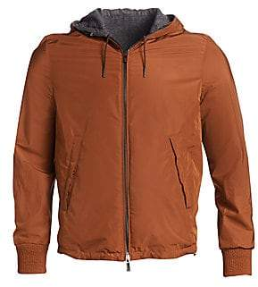 Ermenegildo Zegna Men's Fox Reversible Cashmere Hooded Jacket