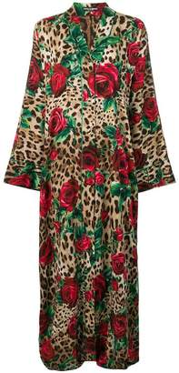 Dolce & Gabbana long leopard print kimono