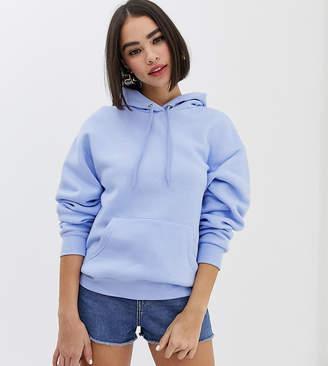 Monki hooded sweat in pastel blue