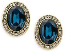 Heidi Daus Oval Crystal Stud Earrings