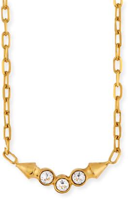 Neiman Marcus Cyn Mio Crystal Bezel Pendant Necklace