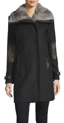 Ametista Rabbit Fur Coat $695 thestylecure.com