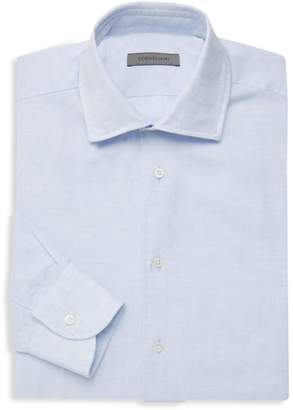 Linen-Blend Dress Shirt