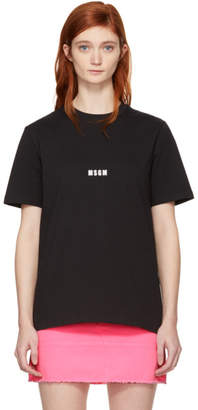 MSGM Black Mini Logo T-Shirt