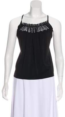 Plein Sud Jeans Lace-Trimmed Sleeveless Top