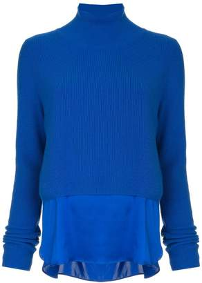Elie Tahari elongated panel cashmere sweater
