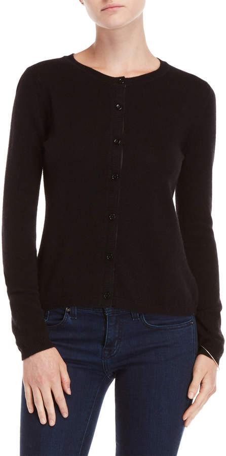Qi Petite Cashmere Button Cardigan
