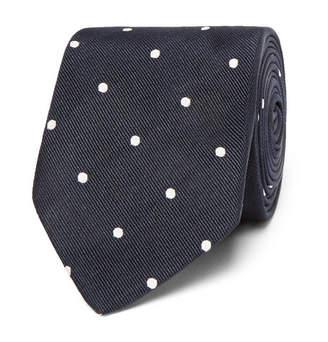 Drakes Drake's Easyday 7cm Polka-Dot Silk Tie