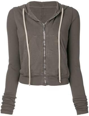Rick Owens cropped zip hoodie