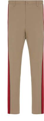 Lanvin Striped Wool-Crepe Pants