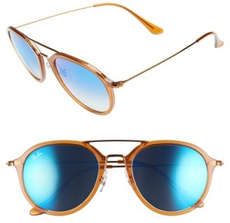 Women's Ray-Ban 53Mm Aviator Sunglasses - Brown $185 thestylecure.com