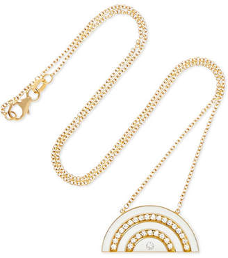 Andrea Fohrman Rainbow 18-karat Gold, Diamond And Enamel Necklace - one size