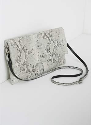Mint Velvet Lily Snake Print Clutch Bag