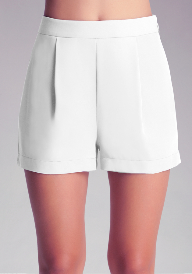 Bebe Pleat Front Shorts