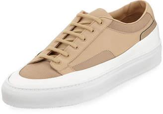 Common Projects Men's Achilles Super Platform Leather Low-Top Sneakers, Beige