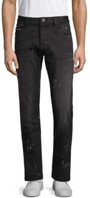 Cult of Individuality Printed Straight-Leg Jeans