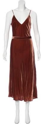 Frame Velvet Maxi Dress