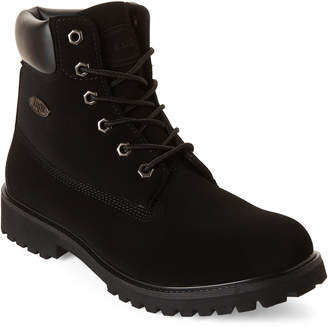 Lugz Black Lace-Up Work Boots