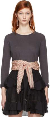 Etoile Isabel Marant Grey Linen Kaaron T-Shirt