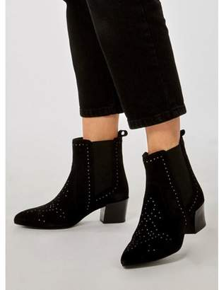 Dorothy Perkins Womens Black 'Alive' Western Ankle Boots