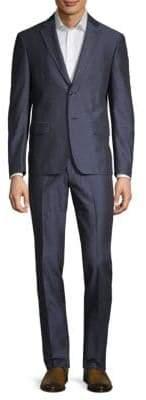 Calvin Klein Slim-Fit Cotton, Linen & Wool Blend Suit