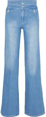 Victoria Beckham Victoria, High-rise Flared Jeans - Light denim
