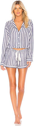 Rails Long Sleeve Short PJ Set