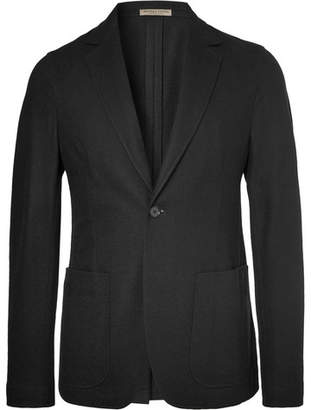 Bottega Veneta Black Slim-Fit Unstructured Cashmere Blazer