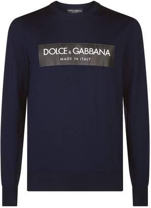 Dolce & Gabbana Logo Sticker Sweater
