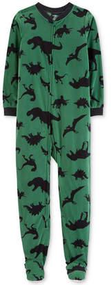 Carter's Little & Big Boys 1-Pc. Dinosaur-Print Footed Pajamas