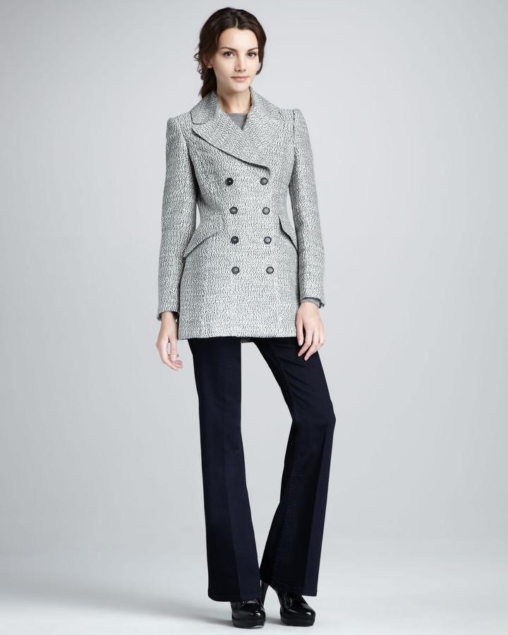 Burberry Mottled Pea Coat