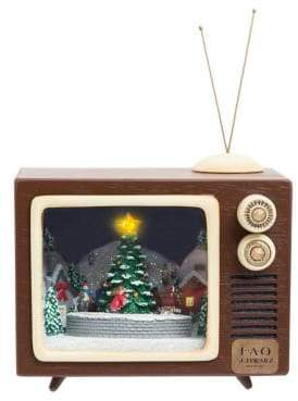 FAO Schwarz Lighted Holiday Musical Figurine TV